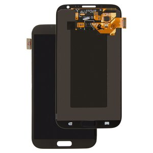LCD compatible with Samsung I317, N7100 Note 2, N7105 Note 2, T889, (grey, with touchscreen, original (change glass) )