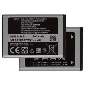 Battery AB463446BU compatible with Samsung E250, (Li-ion, 3.7 V, 800 mAh)