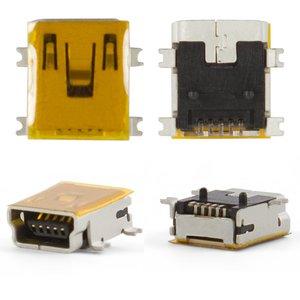 Charge Connector for Motorola A1200, E380, E680, E770, K1, K2, V360, V3x, V3xx, W220, Z3, Z6 Cell Phones, (5 pin, mini-USB type-B)