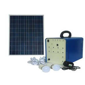 DC Portable Solar Power System, 100 W, 12 V / 50 Ah, Poly 18 V / 100 W