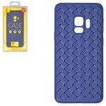 Case Baseus compatible with Samsung G960 Galaxy S9, (dark blue, braided, plastic) #WISAS9-BV15
