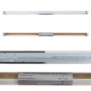 LED лампа T8  600 мм, 9 Вт, 1080 лм, NW (природний) 4000-4500 К, скло