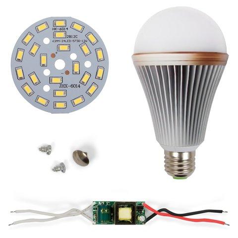 LED Light Bulb DIY Kit SQ Q24 12 W cold white, E27 , Dimmable